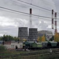 "вид на завод ""Пикалевский глинозем"", Пикалёво"