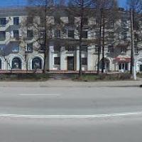Панорама улицы Советской.Das Panorama der Straße Sowjetisch, Пикалёво
