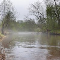 туман,река пярдомля, Бокситогорск