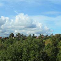 Вид на нагорную часть Большой Ижоры от д. Сагамилье., Большая Ижора
