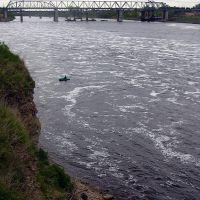 ЖД мост, Волхов