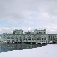 Волхов. ГЭС им. Ленина зимой, Волхов