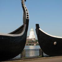 vibörg şehrinin viking kayıkları ve zından kulesi  rusya by ismail soytekinoglu, Выборг
