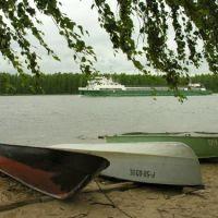 View to Maly Vysotsky island in Tranzund strait, Высоцк