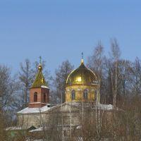 Орлинская церковь зимой., Дружная Горка