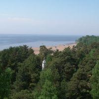 ЗЕЛЕНОГОРСК. Вид на пляж. / Zelenogorsk. View of the beach., Зеленогорск