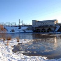 Hydroelectric power plant in Russian side, Ивангород