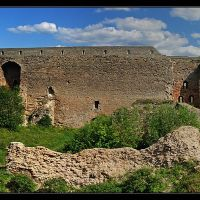Панорама стены, Ивангород