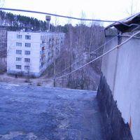 ул. Песчаная - Вид с крыши, Каменногорск
