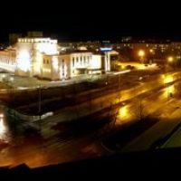 Ночная панорама ул. Ленина, Кириши