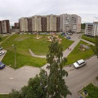panorama of our yard, Кириши