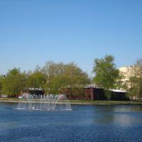 Izhora pond. Fountain, Колпино