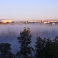 Вид из окна на Чухонку. Утро., Колпино