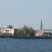 Kronshtadt from Baltic sea, Кронштадт