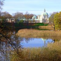 Японский павильон Меншиковского дворца, вид со стороны Нижнего пруда., Ломоносов