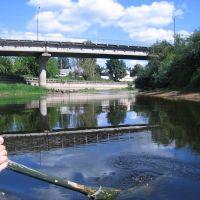 Автомобильный мост (Комсомольский пр.)  - вид с воды, Луга