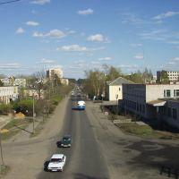 Vista desde el viaducto a la calle Pobedy, Луга