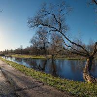 Вдоль пруда, Петродворец