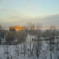 Зимний вид из окна, Подпорожье