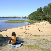 Russia, Priozersk (Käkisalmi). Local beach life (2006)., Приозерск