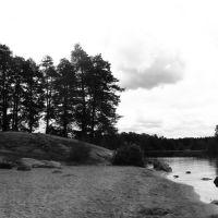 пляж на о. Каменистом, Приозерск