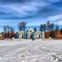 На льду Екатерининского пруда, Пушкин