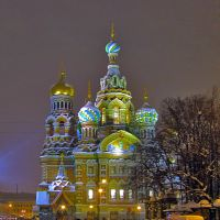 Новогодний Петербург. New Years Petersburg. Savior on the Spilled Blood, Санкт-Петербург