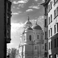 Urban View (Cathedral of St. Vladimir) B&W St-Petersburg Russia, Санкт-Петербург