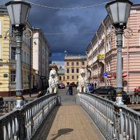 Питерские зарисовки. Львиный мостик. Посвящается Диме., Санкт-Петербург