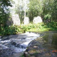 Водопад на р. Кушелке, Сланцы