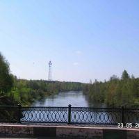 на мосту летом (On the bridge in the summer), Сланцы