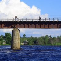 Железнодорожный мост Сланцы, Сланцы