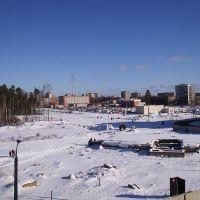 Вид на АТС зимой, Сосновый Бор