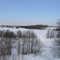Тихвинка зимой, Тихвин
