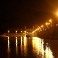 Вход в шлюзовую камеру ночью (Sluice gates entry in night ), Балаково