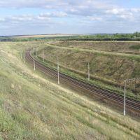 Участок приволжской железной дороги, в сторону Волгограда., Каменский