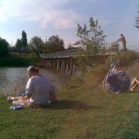 Пляж - мост, Красный Кут