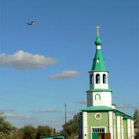 Краснокутская идиллия - церковь и самолеты, Красный Кут