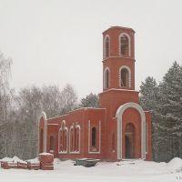 Строящийся храм. Зима, Лысые Горы