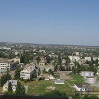 Вид на город со здания нового элеватора, Петровск