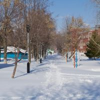 Парк зимой, Ртищево
