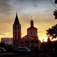 Memories: Troitskiy cathedral in golden sunrise, 29 october 2012, Саратов