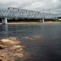 ЖД мост через реку Амга., Бестях