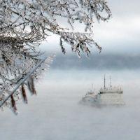 Icebreaker on the River Lena, Жиганск