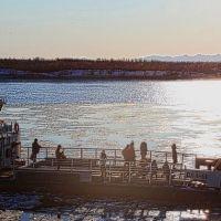 Паром на реке Ясачная, Зырянка