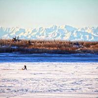 Рыбак на рекае Ясачная, Зырянка