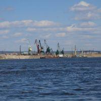 říční port v Lensku, Rusko, Ленск