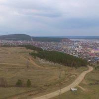 Вид Олекминска с высоты, Олекминск