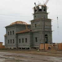 Pokrovsk - stavba kostela, Rusko, Покровск