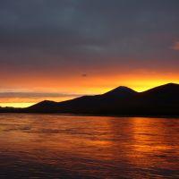 Nera river sunset, Усть-Нера